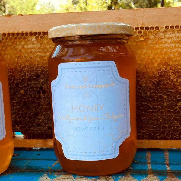 Stone & Compass Organic Balkan Mountain Honey Jar